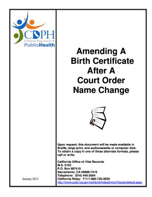 name change on birth certificate california