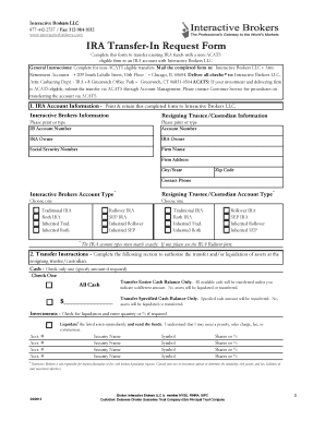 Fillable Online Non ACATS IRA Form 4.0 - Interactive Brokers Fax ...