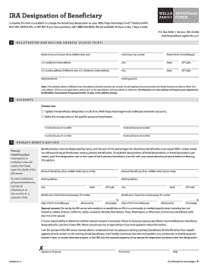 Wells Fargo Ira Beneficiary Designation Form - Fill Online ...