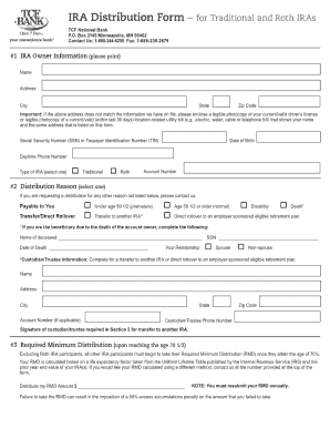 Bank Distribution Form - Fill Online, Printable, Fillable, Blank ...