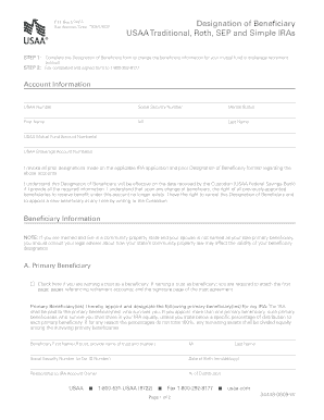Usaa Beneficiary Designation Fill Online Printable Fillable Blank Pdffiller