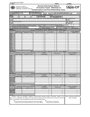 How To File 1604cf - Fill Online, Printable, Fillable, Blank