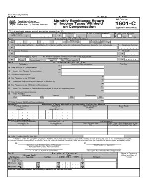 Bir 1601 C - Fill Online, Printable, Fillable, Blank | PDFfiller