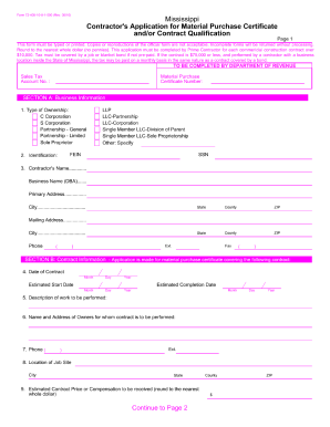 material purchase certificate form