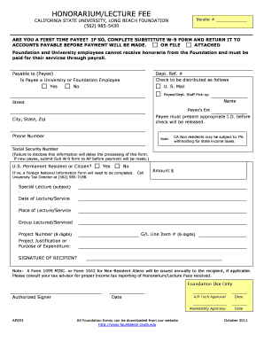 Online Honorarium Format - Fill Online, Printable, Fillable, Blank