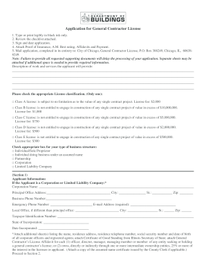 chicago application general license form
