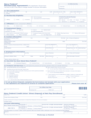 navy federal membership application form