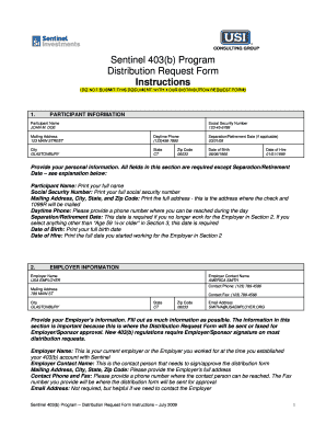 Distribution Request For 401k Usi - Fill Online, Printable ...