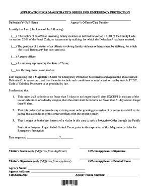 20 Printable Emergency Temporary Custody Form Templates Fillable