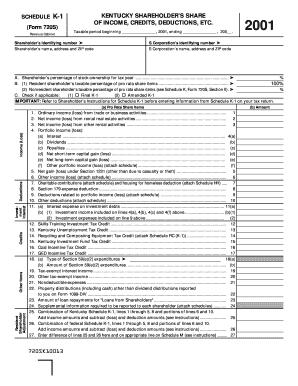 Fillable Online revenue ky SCHEDULE K-1 (Form 720S) Revenue ...