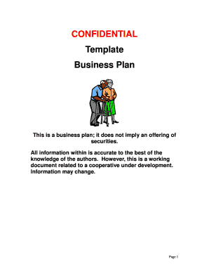confidential template business plan for home care business form