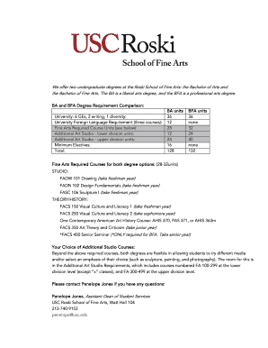How do I get D-clearance for a Fine Arts class - Roski School of ... - roski usc