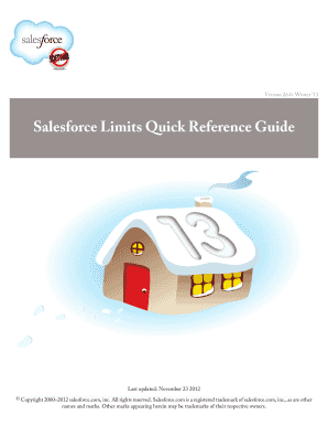 Salesforce Limits Quick Reference Guide - Fill Online