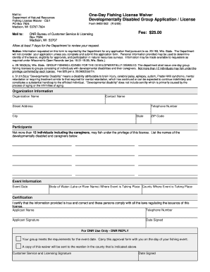 Wisconsin fishing license fill online printable for How much is a wisconsin fishing license