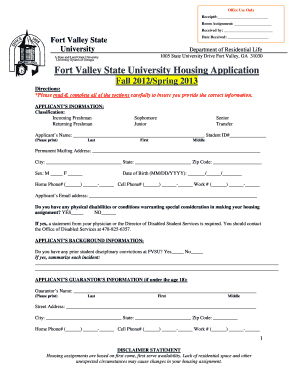 Housing Application Form Templates - Fillable & Printable Samples ...