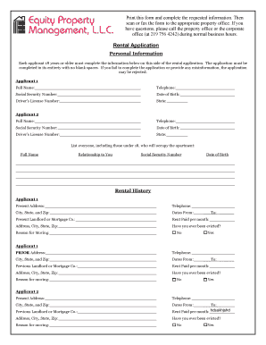 Generic fillable lease form