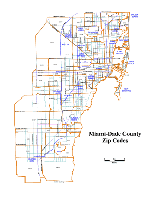 Broward County Zip Code Map Miami Herald Advertising - Fill ...