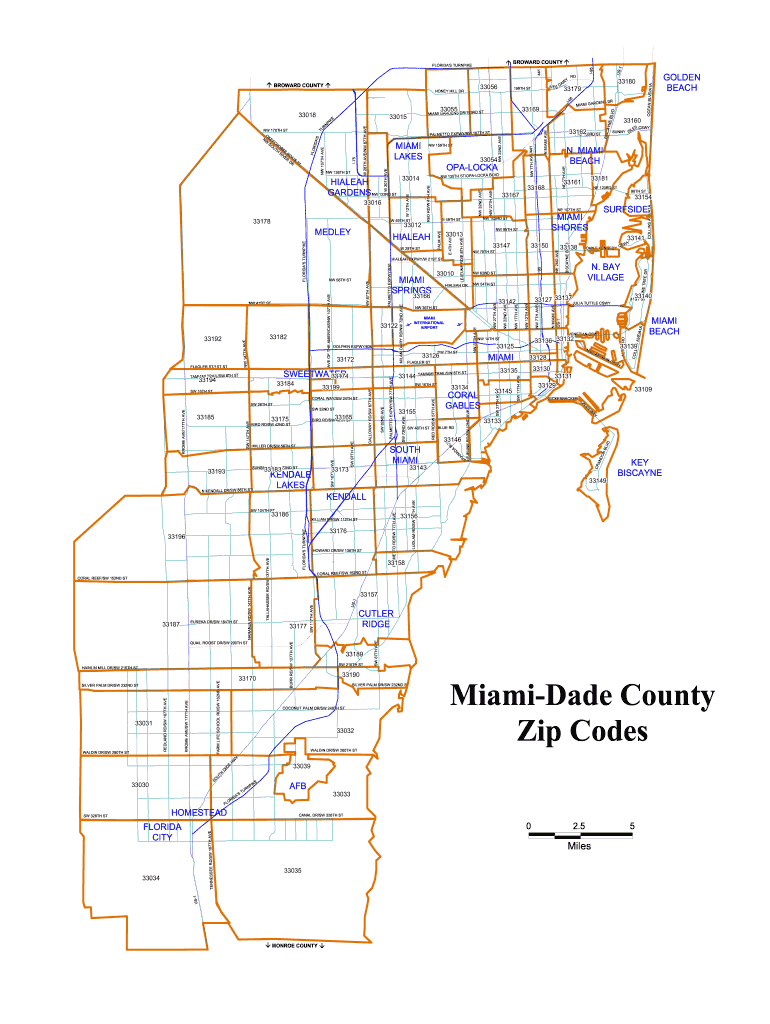 Picture of: Broward County Zip Code Map Fill Online Printable Fillable Blank Pdffiller
