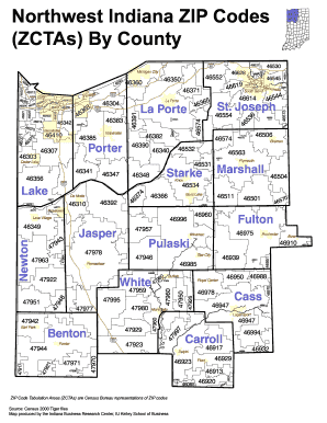 Zip Codes For Northwest Indiana Fill Online Printable Fillable