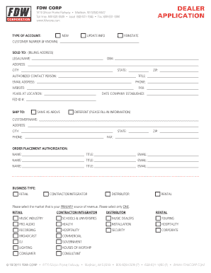 dealership form format in word