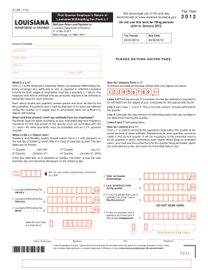 Louisiana Withholding Form - Fill Online, Printable, Fillable ...