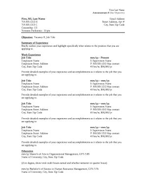 7 Printable Resume Format For Job Templates Fillable Samples In