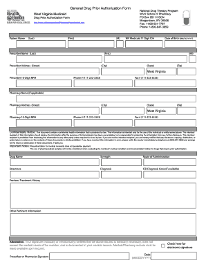 West Virginia Medicaid Drug Prior Authorization Form - Fill Online ...