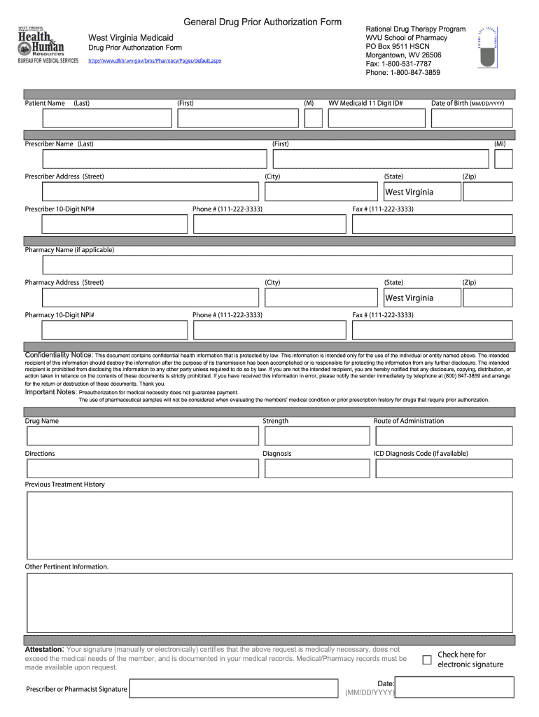 Rational Drug Therapy Prior Authorization Form Fill Online