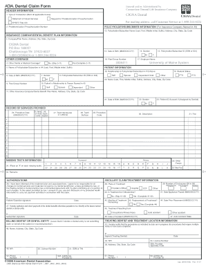 cigna dental form umaine
