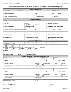 Nj Discharge Planning From Sar - Fill Online, Printable, Fillable ...