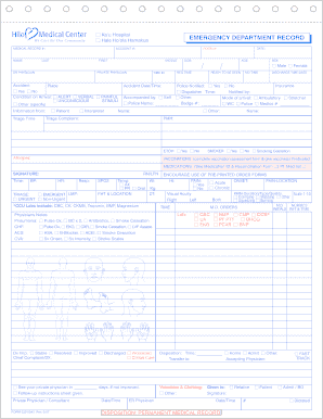 Emergency Room Record Form