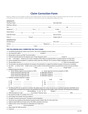 Corrected Claim Form - Fill Online, Printable, Fillable, Blank ...