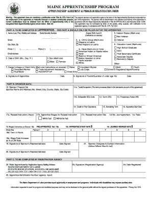 Apprentice application form template fill online for Apprenticeship contract template