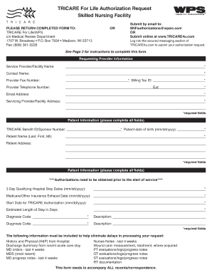 Tricare For Life Authorization Request Form Fill Online Printable