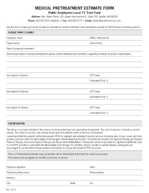 free printable estimate forms