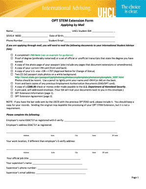 uhcl i20 sample form