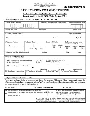 Ged Application Nyc - Fill Online, Printable, Fillable, Blank ...