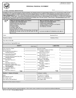 Sba Form 413 08 11 - Fill Online, Printable, Fillable, Blank ...