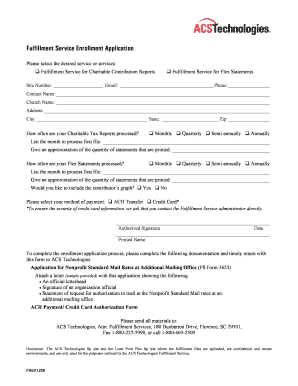 Fulfillment Service Agreement - ACS Technologies Store