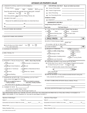 how to fill out an affidavit of property value pinal form
