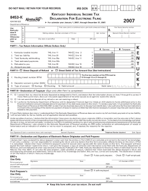 complete an online tax declaration form