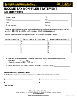How Do I Get A Non Filer Statement - Fill Online, Printable ...