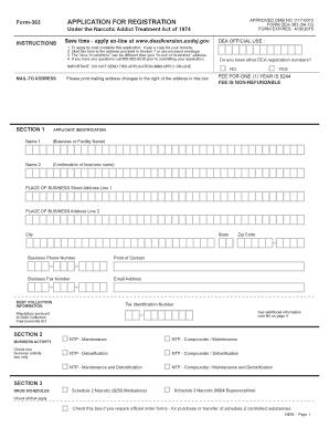 Dea Form 363 - Fill Online, Printable, Fillable, Blank | PDFfiller