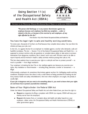 Osha Section 11c - Fill Online, Printable, Fillable, Blank ...