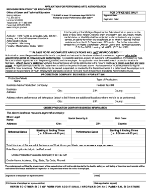 tara bride michigan department of education form