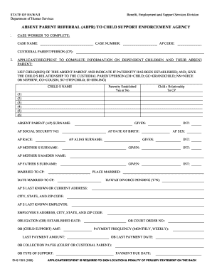How To Fill Up Dhs 1101 Absent Form - Fill Online, Printable ...