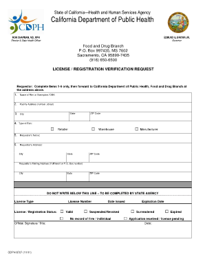 cdph food and drug branch letterhead form