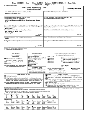 chadron gutschow bankruptcy form