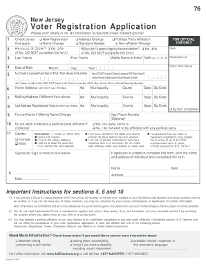 Bill Of Sale Form New Hampshire Voter Registration Application ...