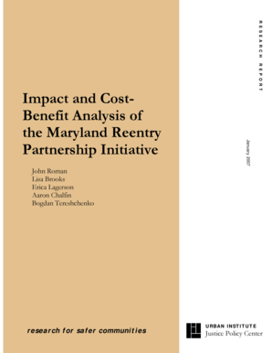 Impact and Cost- Benefit Analysis of the Maryland ... - Urban Institute - urban